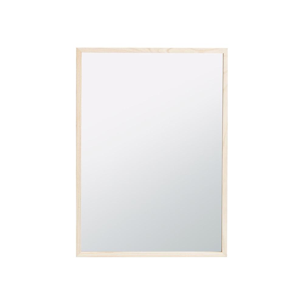 Gương treo tường OBSTRUP khung gỗ thông màu tự nhiên 40x55cm; BASIC