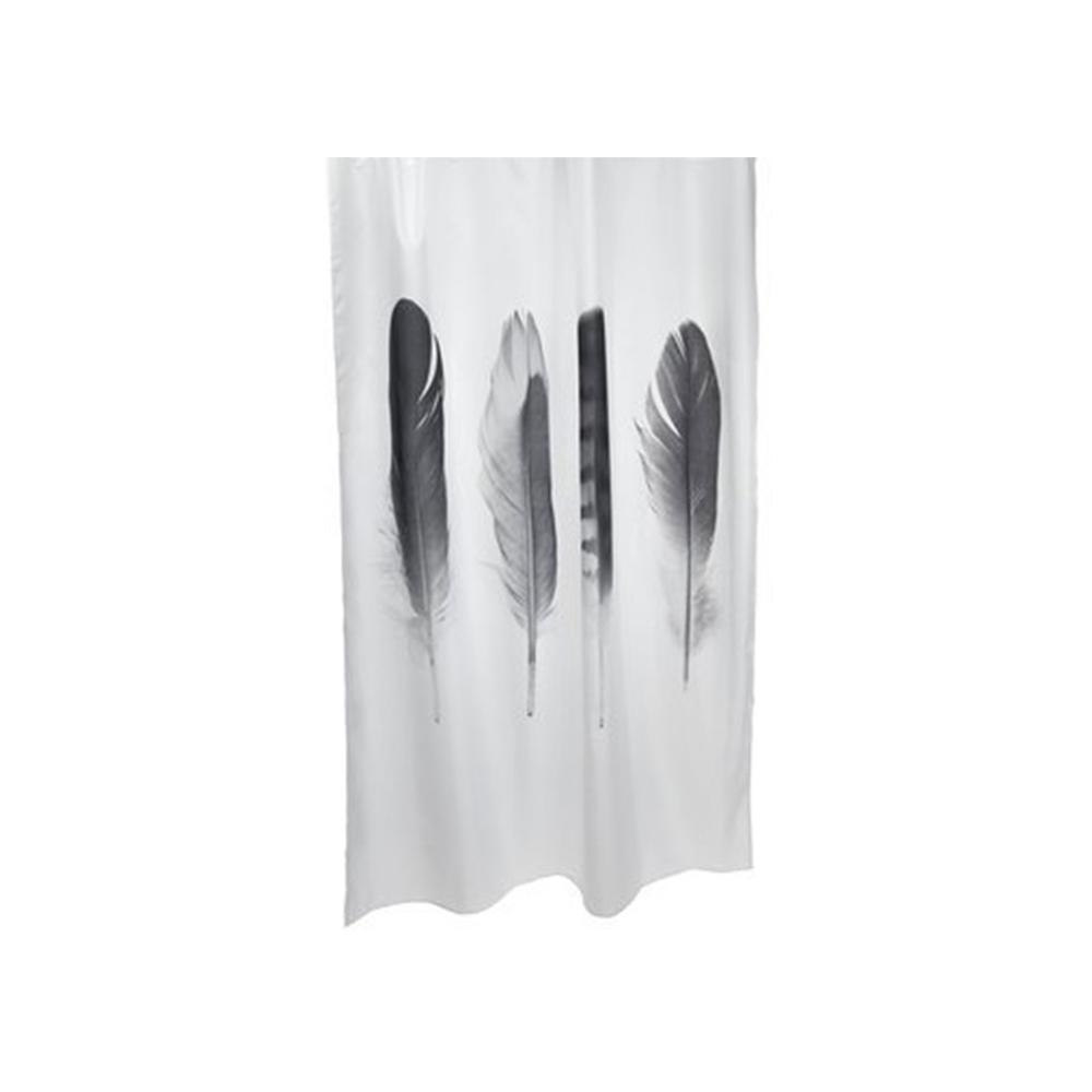 Rèm phòng tắm TOTRA polyester đen/ trắng; 150x200cm