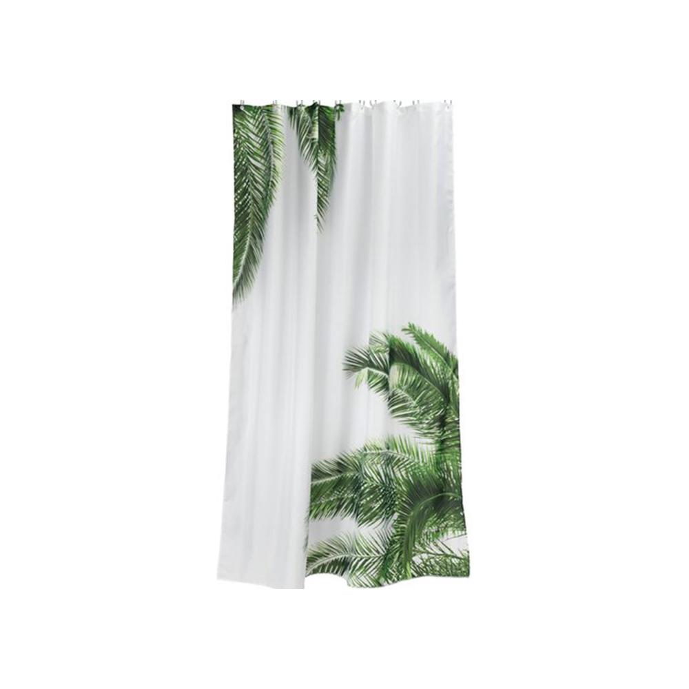 Rèm phòng tắm PAJALA trắng/xanh lá; 150x200cm