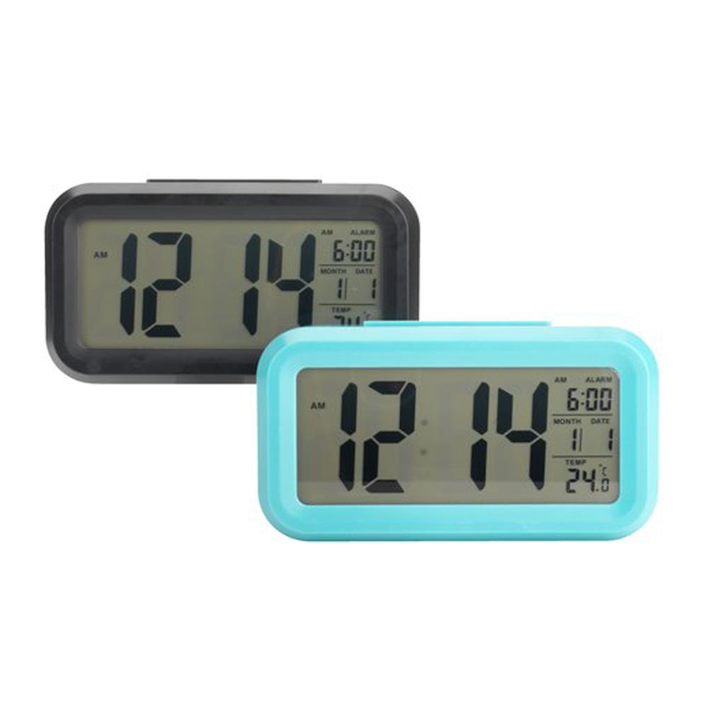 Đồng hồ báo thức điện tử để bàn SVEN nhựa, xanh dương, R14xS5xC8cm