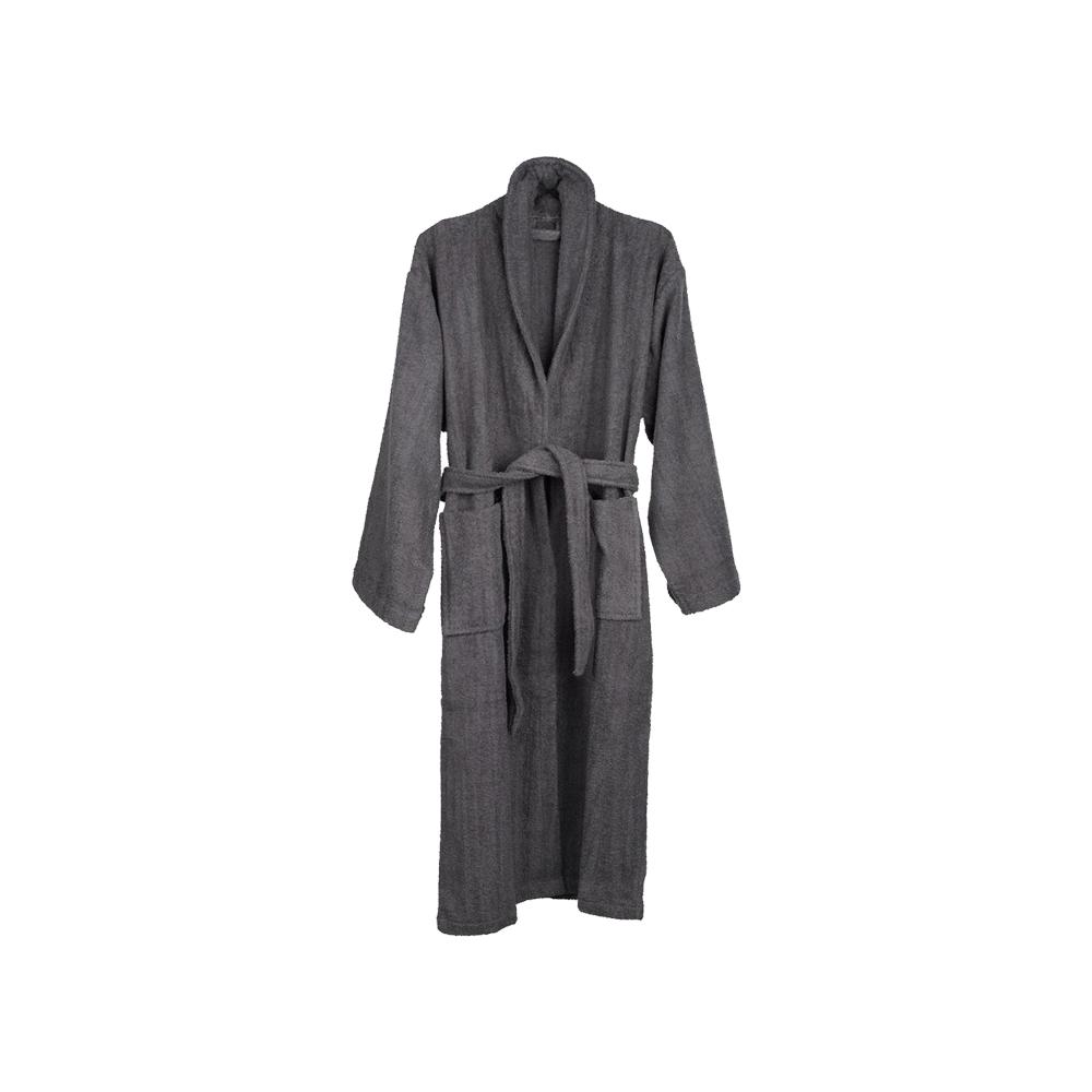 Áo choàng tắm TIMMERDALA cotton xám đậm S/M