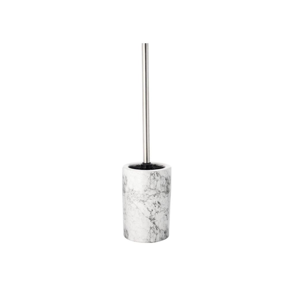 Chổi cọ toilet JONSTORP gốm/ kim loại màu đá cẩm thạch; Ø10.5x12cm