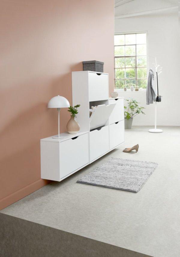 Tủ giày 2 ngăn IDSKOV gỗ công nghiệp trắng JYSK