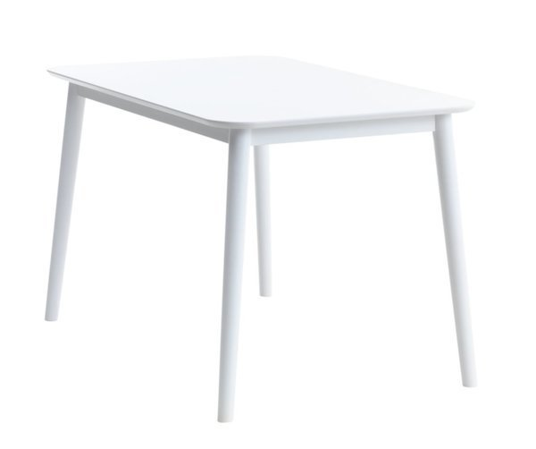 Mẫu bàn ăn LANGDAL gỗ công nghiệp chân gỗ cao su màu trắng tại JYSK