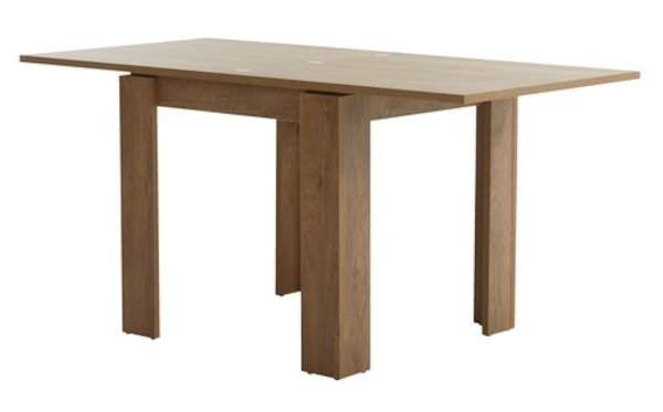 Bàn ăn VEDDE gỗ công nghiệp màu sồi, R80xD80/160xC76cm