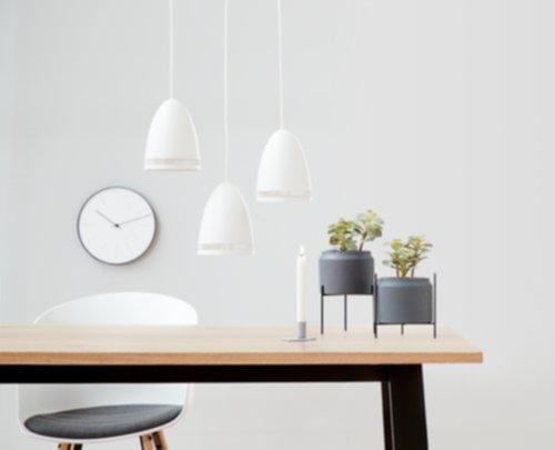 Đèn thả trang trí phòng bếp DIDRIK, kim loại sơn, màu trắng tại JYSK
