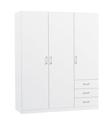 Tủ quần áo gỗ công nghiệp HAGENDRUP màu sồi trắng