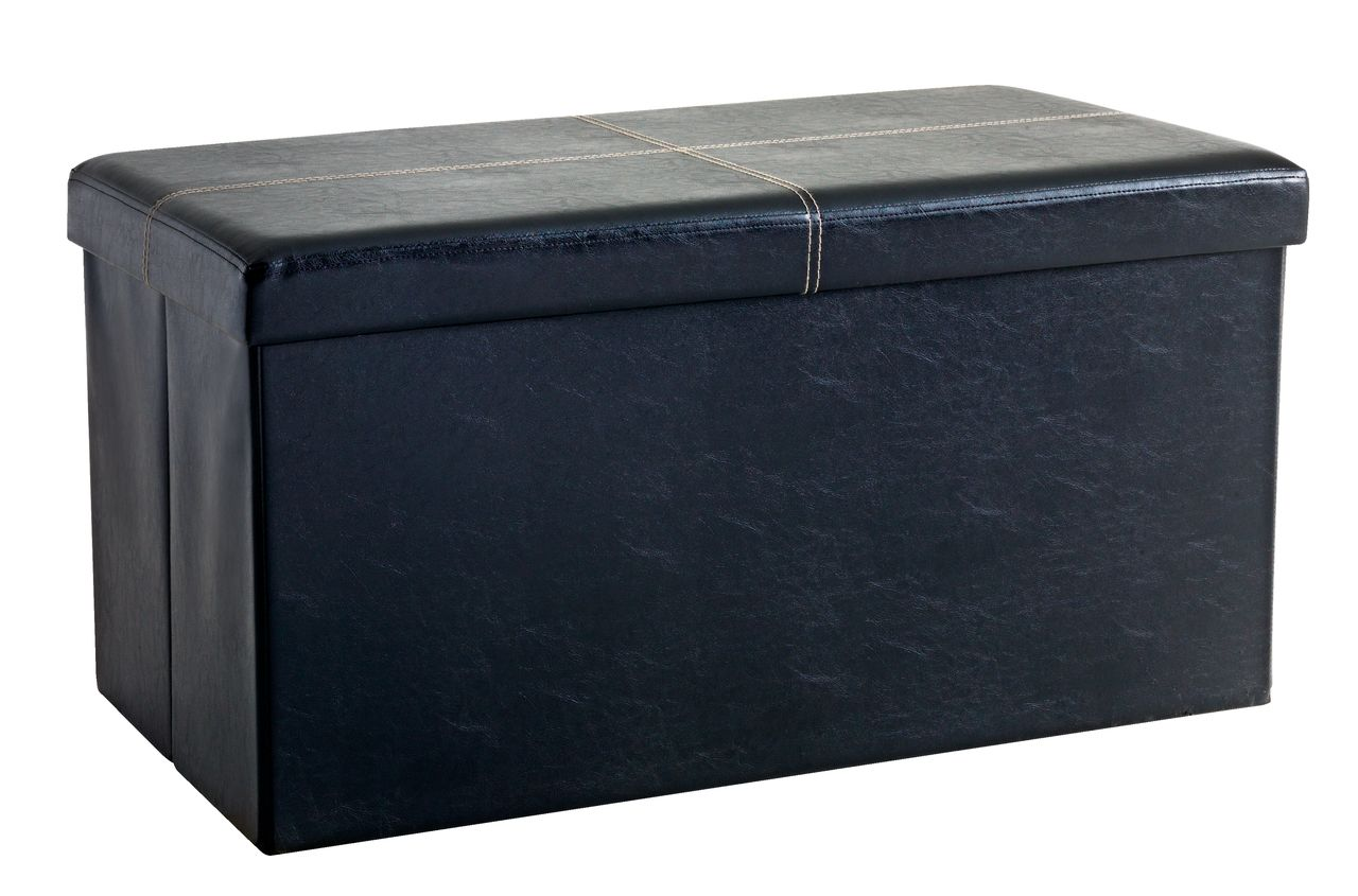 HOLEBY double sofa, black PU leather at JYSK