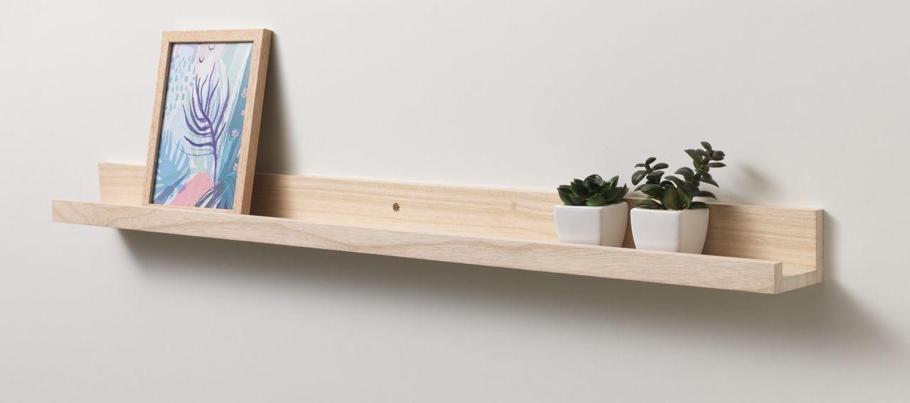 Kệ trưng tranh ILBRO, gỗ tự nhiên, màu tự nhiên, 90x8x6cm