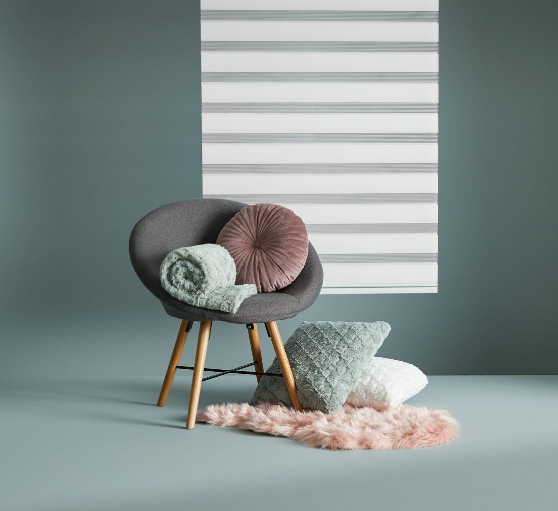 Chăn sofa STENROS polyester, xanh rêu, 130x170cm